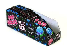 Pop Rocks Blue Raspberry Candy Packs - 24ct Box from CandyStore.com