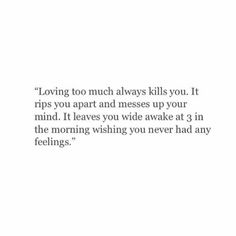 Loving too much