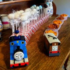 Going to use covered tissue boxes. Thomas Birthday Parties, Friends Birthday Cake, Thomas The Train Birthday Party, Harry Birthday, Trains Birthday Party, Birthday Party Themes, Birthday Cakes, Second Birthday Ideas, Baby First Birthday