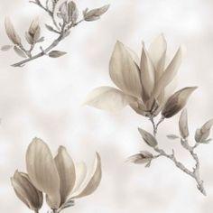 Dekorační látka Magnolie šedobéžová Plants, Magnolias, Plant, Planets