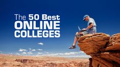 50 best online colleges and universities, accredited, United States, top ranked plus free student guide on distance learning and online education