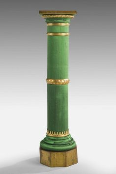 An Unusual Gilt Bronze Circular Column