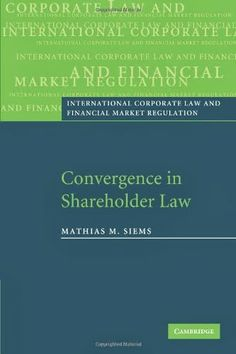 Convergence in Shareholder Law | Bookz Ebookz