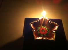 Hand painted diya.