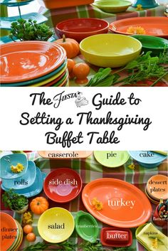 The Fiesta Guide to Setting a Thanksgiving Buffet Table from the Fiesta blog at www.alwaysfestive.com.