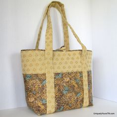 Ella Tote: gold and turquoise from Uniquely Yours