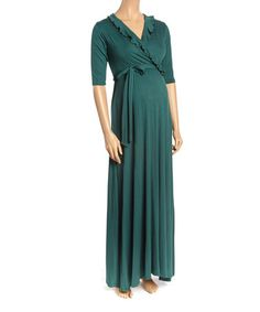 Create an easy all-in-one ensemble with this flattering dress cut with a surplice neckline and accessory-ready half sleeves. Cute Maternity Dresses, Maternity Maxi, Flattering Dresses, Dress Cuts, Hunter Green, Half Sleeves, Fashion, Moda, Fashion Styles