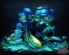 Splatoon 2 Art, Splatoon Comics, Callie And Marie, Squid Games, Bobble Hats, Manga Characters, Super Smash Bros, Cool Artwork, Comic Art