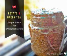 Natural & DIY Skin Care : Potato For Skin Whitening  Exfoliating Potato & Green Tea Sugar Scrub