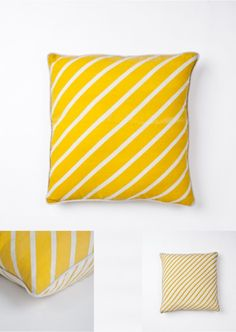STRIPE YELLOW cushion