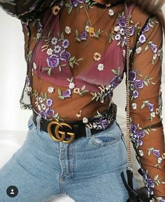 model,girl-SUCH A LOOK 😩🌷🌸fashion model girl looks style floral sheer slay outfit goals iconic gucci selfie beauty makeup glam Mode Outfits, Trendy Outfits, Fashion Outfits, Womens Fashion, Fashion Trends, Dress Fashion, Fashion Ideas, Ladies Fashion, Fashion Shirts