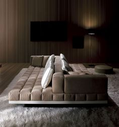 Grid Sofa from Resource Furniture Canapé Cuir Design, Canapé Design, Sofa Design, Resource Furniture, Sofa Furniture, Modern Furniture, Furniture Design, Steel Furniture, Plywood Furniture
