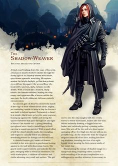 DnD 5e Homebrew — Huckster and Shadow Weaver Rogues by...