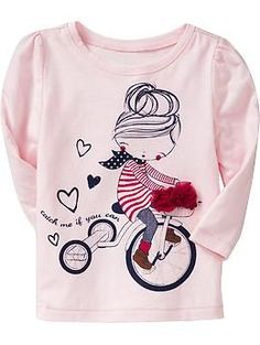 Old Navy Embellished Graphic Tees Toddler Girl Outfits, Kids Outfits, Jean Outfits, Polo Outfit, Tk Maxx, Kind Mode, Kids Wear, Shirts For Girls, Baby Dress