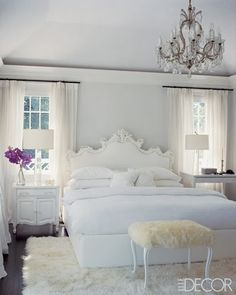 I know this is girly, but I LOVE it!!!!!  Looks so clean, crisp & cozy!!!!  <3