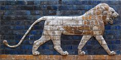 Detail of a lion found along the processional way from Ishtar Gate into the city of Babylon. The Ishtar Gate was constructed around 575 BC by King Nebuchadnezzar. Ancient Symbols, Ancient Art, Ancient History, Art History, Ancient Egypt, Casterly Rock, Money Magic, History Encyclopedia, Ancient Mesopotamia