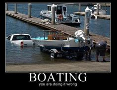 doing it wrong boating