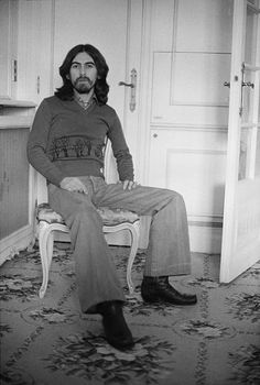 English singersongwriter guitarist and former Beatle George Harrison Cannes France 30th January 1976 Harrison is in Cannes for the Midem music...