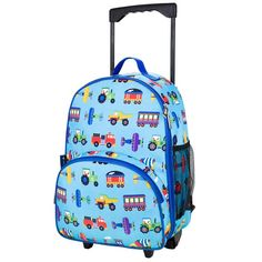 Children's Transport Rolling Luggage - Available now on Becky & Lolo