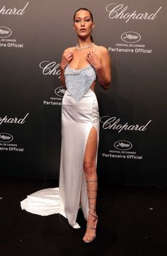 Bella Hadid - Shines Like a Diamond at Chopard Space Party on May 19