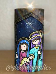 Decoupage, Arizona Tea, Candle Making, Drinking Tea, Home Interior Design, Painted Rocks, Nativity, Candle Holders, Christmas