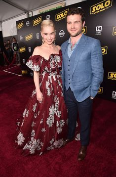 The stars of SOLO: A Star Wars Story: Emilia Clarke, Donald Glover, Alden Ehrenreich, and more were joined by celebrities at the El Capitan Theatre to celebrate the anticipated Star Wars film's Los Angeles premiere. Emilia Clarke, Cannes Film Festival, Alden Ehrenreich, Lando Calrissian, Donald Glover, Star Wars Film, Red Carpet Looks, Nice Dresses, Peplum Dress
