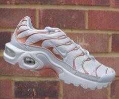 a373bf0877 Juniors Womens Boys Girls Nike Air Max Plus GS Tn White Metallic Bronze UK  5.5 | eBay