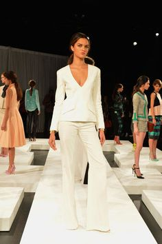 0c76b956a924 the deep v and simple white. White Suits