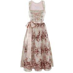 Stunning Evening Dirndl Dirndls ❤ liked on Polyvore featuring dresses, gowns, short dresses, brown evening dress, cocktail dresses, brown dress and evening dresses