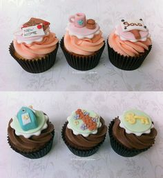 New Home Cupcakes - by Happy_Food @ CakesDecor.com - cake decorating website