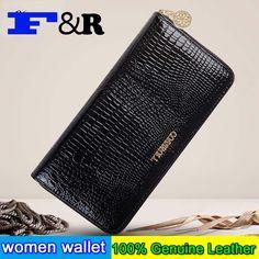 famous brand women wallets genuine leather coin purse luxury crocodile pattern women wallet long ladies wallets and purses