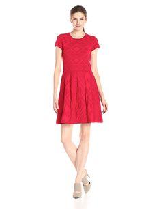 9e23045514e7 Amazon.com  Parker Women s Meena Cap-Sleeve Fit-and-Flare Sweater Dress   Clothing