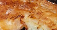 Κασερόπιτα με σιμιγδαλόκρεμα! 7 φύλλα κρούστας 1 κρασοπότηρο ελαιόλαδο Για την κρεμα 1λιτρο γάλα 100 γρ σιμιγδάλι ψιλό Αλάτι πιπέρι 1κ.σ βου... Lasagna, Macaroni And Cheese, Meat, Chicken, Cooking, Ethnic Recipes, Food, Kitchen, Mac And Cheese