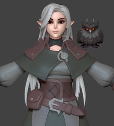 Sculpt of my original character. 3d Model Character, Character Modeling, Game Character, Character Concept, Character Design, Zbrush Character, Fantasy Characters, Female Characters, Alien Creatures