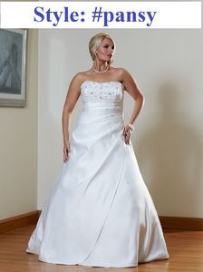 Ball gown Plus size Beaded sash bridal gown#pansy