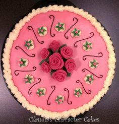 Buttercremetorte mit Marzipanrosen | Buttercream Cake with marzipane roses