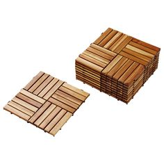 IKEA - SKOGHALL, Decking, The sections can be hooked together to stay in place.Made of acacia, which is a hard and durable material suitable for outdoor use.