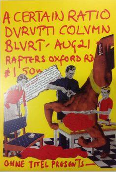 """""""tanznacht: A Certain Ratio , Durutti Column , Blurt : Concert Flyer """""""