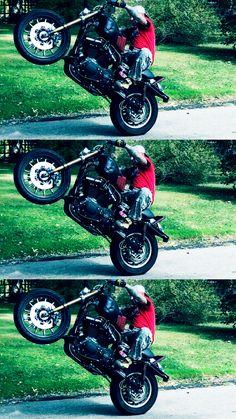 #Harley Wheelie #stuntrider #Stuckinohio