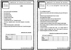 Améliorer la fluidité de lecture - Dix mois French Teacher, French Class, Teaching French, Home Activities, Reading Activities, Teaching Reading, French Immersion, Daily 5, Kids Learning
