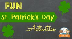 St. Patrick's Day Activities - Fun activities to celebrate St. Patrick's Day in your preschool and kindergarten classroom.  Literacy, math, science, fine motor skills and more!