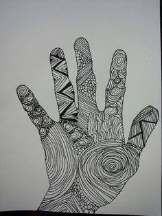 Een hand intekenen met Oost-Indische inkt