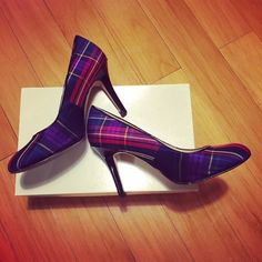 """Kate Spade Plaid Heels Complete your preppy look with this pair of Kate Spade plaid heels. 3"""" heel height makes them greatly manageable. Plaid fabric upper and leather trim. Comes in original retail box. kate spade Shoes Heels"""