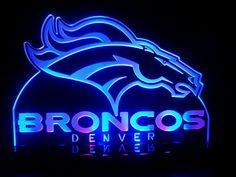 Hey, I found this really awesome Etsy listing at https://www.etsy.com/listing/167969840/nfl-denver-broncos-football-led-desk