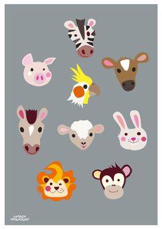 Childrens poster Tutti poster, 50x70 cm. Designed by Charlotte Søeborg Ohlsen, Littlelot Designstudio