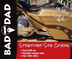 Check out the Classic Series Fairing with Flush Signals, custom made by Bad Dad. Perfect for your bagger! Made in the USA! Bagger Motorcycle, Motorcycle Types, Motorcycle Design, Harley Davidson Motorcycles, Custom Motorcycles, Custom Bikes, Custom Bagger Parts, Custom Baggers, Custom Street Glide