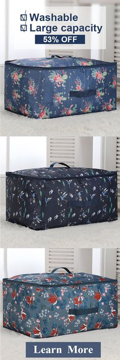 Hailey check these out. How to save space and keep neat --SaicleHome Washable Portable Oxford Clothes Quilts Storage Bags Folding Organizer Storage Container