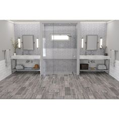 Lumber Gray Wood Plank Porcelain Tile - 6in. x 24in. - 100105873 | Floor and Decor