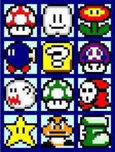 Mario quilt pattern!