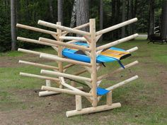 10 Place SUP Rack – Double Sided Diy Hat Rack, Diy Bike Rack, Kayak Storage Rack, Kayak Rack, Kayaks, Canoa Kayak, Surfboard Rack, Northern White Cedar, Firewood Rack